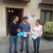 José Navarro (PP), Eduardo García-Ontiveros (Cs) y Amparo Cerdá (Vox).