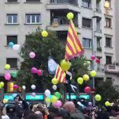 """Los CDR convocan una """"fiesta de globos"""" para protestar frente a la Conselleria de Interior en Barcelona"""