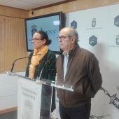 Francisco Gómez, junto a la concejala de Promoción Turística y Festejos, Eva María Masías