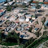 Vista aérea de la depuradora de Algorós en Elche.