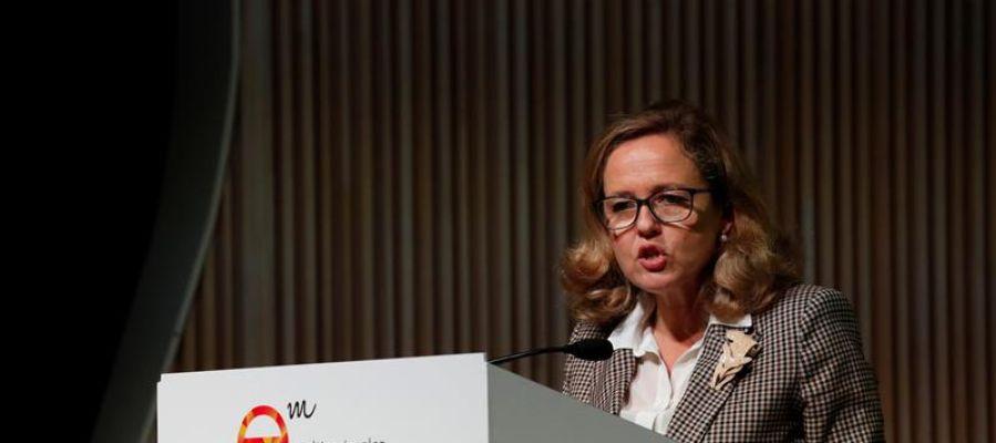 """Nadia Calviño, en su intervención en la jornada """"España ante los desafíos del siglo XXI. Multinacionales por marca España"""""""