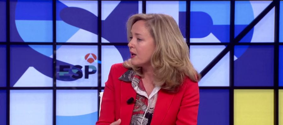 """Nadia Calviño: """"No estoy nada preocupada por la carta de la Comisión Europea"""""""
