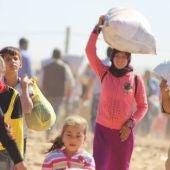 Refugiados sirios en 2014 que abandonaron su país debido a la violencia