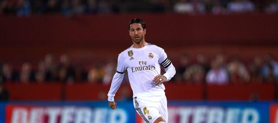 Sergio Ramos, en un partido con el Real Madrid