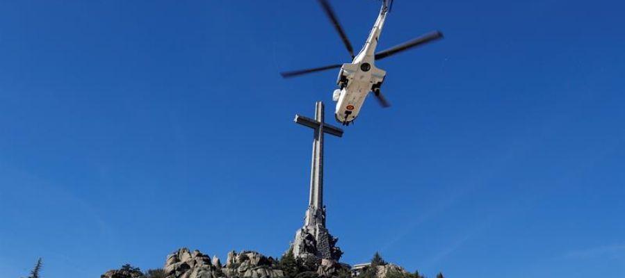 El helicóptero que traslada a Franco a Mingorrubio