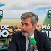 Carlos Lesmes, presidente del Tribunal Supremo y del CGPJ, durante su entrevista en Más de uno