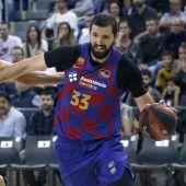 Mirotic, en un partido con el Barcelona