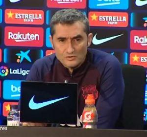 Valverde en sala de prensa
