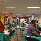 Maratón de donación de sangre en la UMH de Elche.