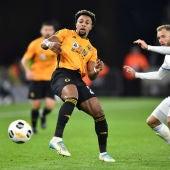 Adama Traoré, en un partido con el Wolverhampton