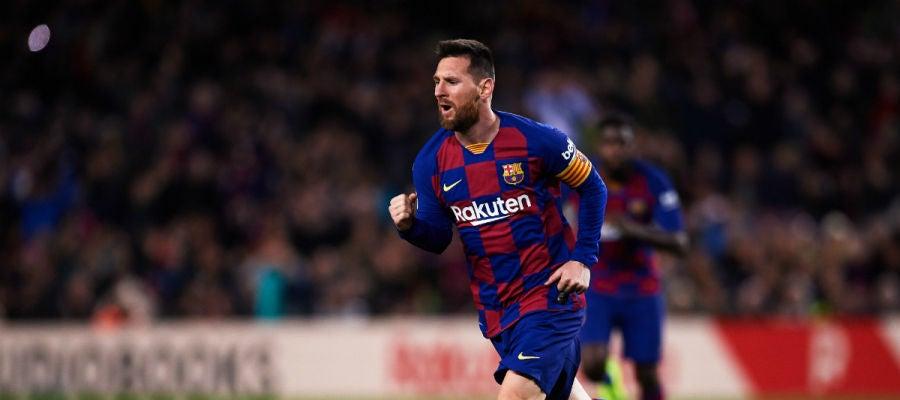 Lionel Messi celebra un gol
