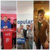 Partidos con representación Senado después del 10N en Segovia