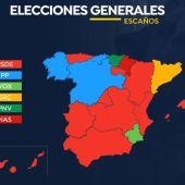 Así es el mapa electoral en las elecciones generales 2019