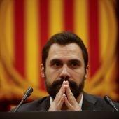 El presidente del Parlament de Cataluña, Roger Torrent