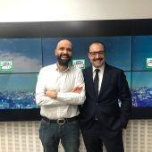 Manuel Giménez, Consejero de Economía de la Comunidad de Madrid, con David del Cura