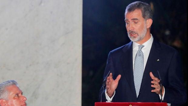 """Felipe VI, en La Habana: """"Los cambios en un país no pueden ser impuestos"""""""