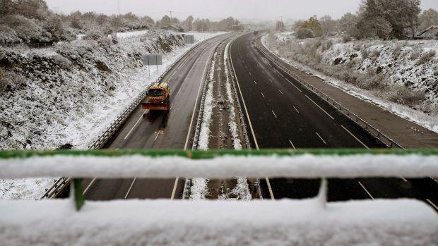 Hoy, nevadas intensas en el norte y lluvias fuertes en el área cantábrica