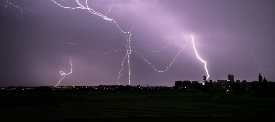Rayos caídos esta noche en Baleares