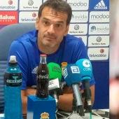 El ex portero del Oviedo, Esteban Suárez, y el ex entrenador del Sporting, Pitu Abelardo