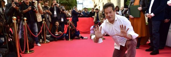 """Jorge Sanz desvela su estrella en el Paseo de la Fama de Almería: """"Lleváis el cine dentro"""""""