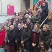 El acto institucional de Ciudad Real se ha celebrado en la escalinata de la Subdelegación del Gobierno