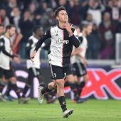 Dybala celebra el gol de la Juventus ante el Atlético