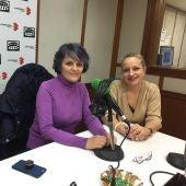 Isabel Ocampo y Ana Belén Chacón, directora del documental y Concejal de Igualdad.