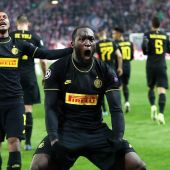 Lukaku celebra un gol