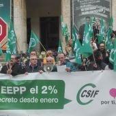 Csif se ha concentrado frente a la Subdelegación del Gobierno en Ciudad Real