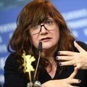 La directora Isabel Coixet, durante una rueda de prensa en la Berlinale