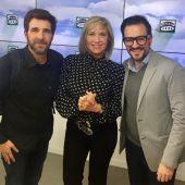 Gonzo, Julia Otero y Jordi Barri