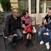 Eduard Fernández y Greta Fernández, durante su entrevista con Kinótico por 'La hija de un ladrón'