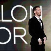 Leo Messi, en la gala del Balón de Oro.