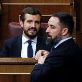 Santiago Abascal y Pablo Casado en una imagen de archivo