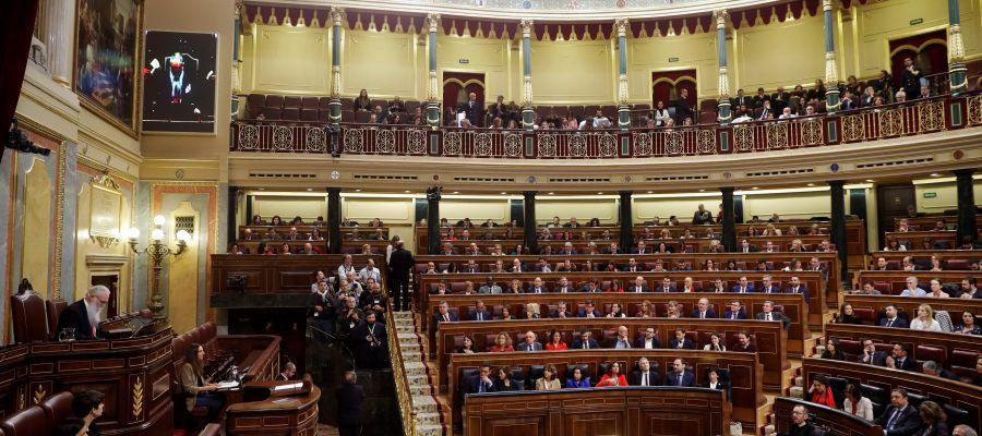 Congreso de los Diputados durante la constitución de las Cortes