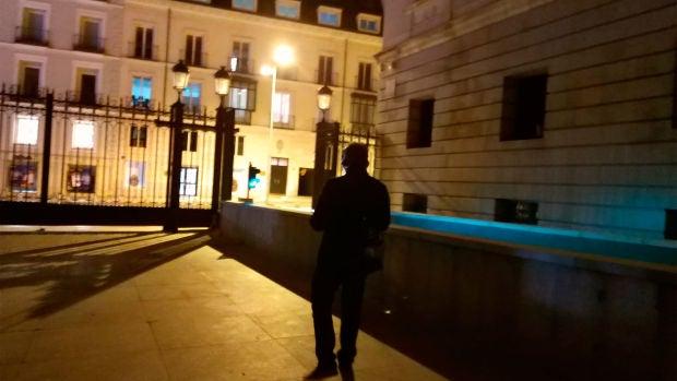 Carlos Alsina, en el patio del Congreso
