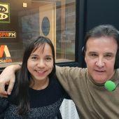 Charlyn Corral, con José Ramón de la Morena.