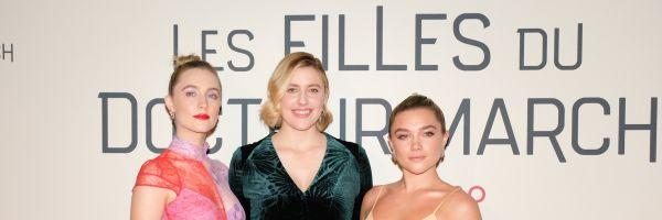 Greta Gerwig, Saoirse Ronan y Florence Pugh posan en la presentación de 'Mujercitas' en París