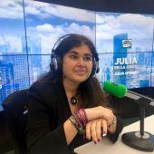 Lucía Etxebarría, en Julia en la onda