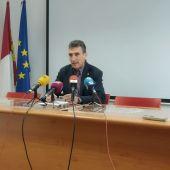 José Ramon Caballero, durante la rueda de prensa para presentar la campaña