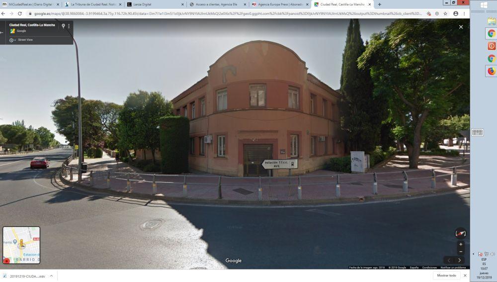 Edificio de la antigua sede de la CEOE de Ciudad Real situado en la Ronda de la Mata
