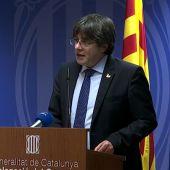 "Puigdemont, sobre Junqueras: ""España tiene secuestrado a un eurodiputado, pido su libertad inmediata"""