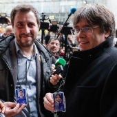 Carles Puigdemont y Toni Comín