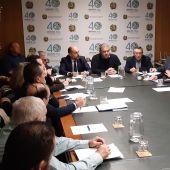 Reunión en el Sindicato Central de Regantes del Acuediucto Tajo Segura.
