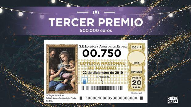 El 00750, Tercer Premio de la Lotería de Navidad
