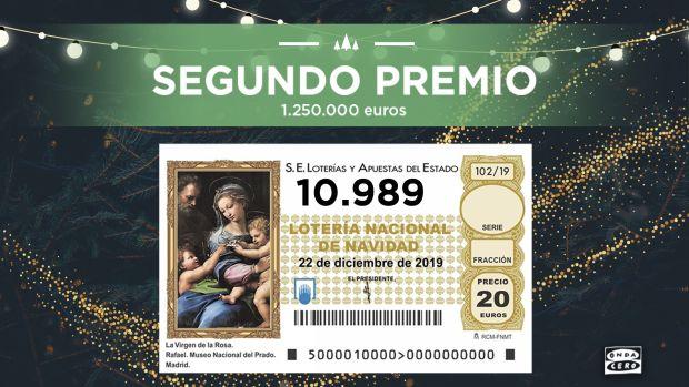 El 10.989, Segundo Premio de la Lotería de Navidad