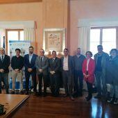 El Vicepresidente del Govern, Juan Pedro Yllanes, junto al rector de la UIB, Llorenç Huguet, en la presentación de Tecnoindustria.