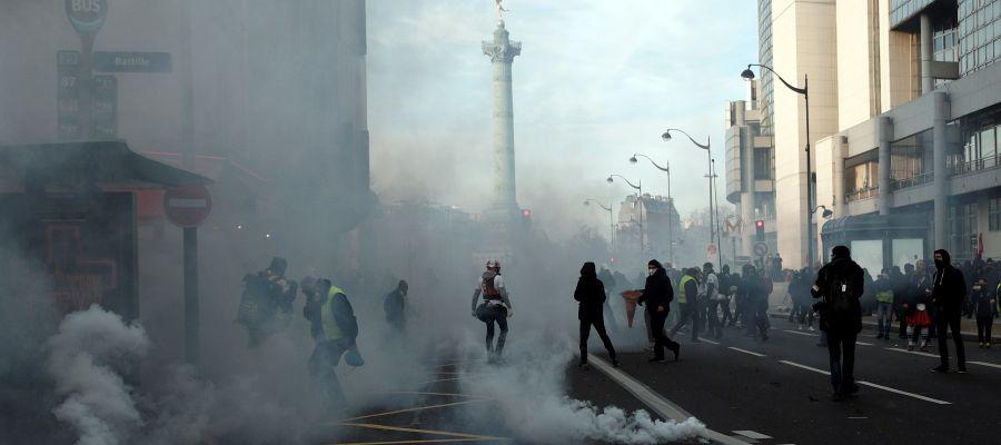 Protestas en las calles de París.