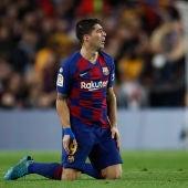 Luis Suárez, durante un partido