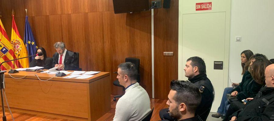 El acusado, Rodrigo Lanza, ante el juez.